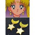 Women girl moon cosply star earring