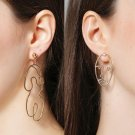 women gold plated body funny earring