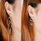 women SILVER plated body funny earring