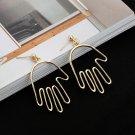 women hand funny earring