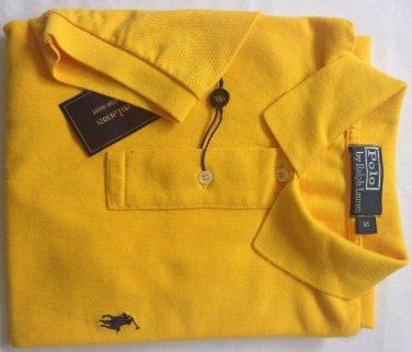 Ralph Lauren Men's Classic Fit Short Sleeve Polo Mesh Shirt, Size Small, Yellow