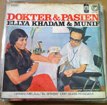 ELLYA KHADAM - MUNIF & ORKES MELAYU EL SITARA LP dokter & pasien RARE INDONESIA CANARY mp3 LISTEN*