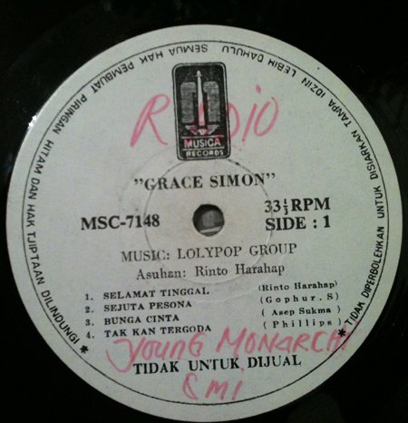 GRACE SIMON LP selamat tinggal RARE INDONESIA PROMO MUSICA mp3 LISTEN*