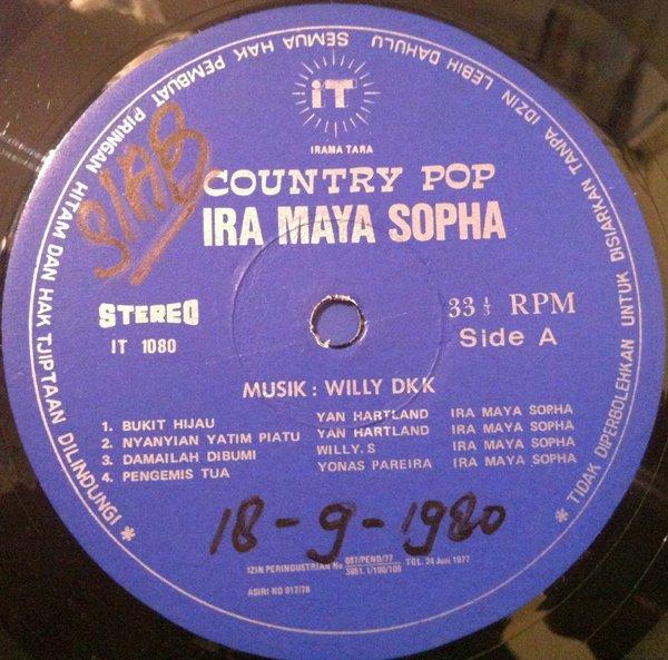 IRA MAYA SOPHA LP country pop RARE PROMO INDONESIA