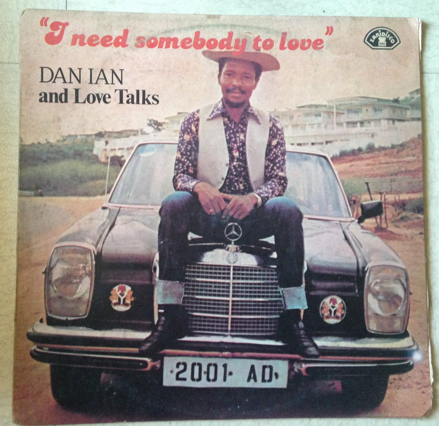 DAN IAN & THE LOVE TALKS LP i need somebody to love NIGERIA AFRO DISCO ZANIDISCO