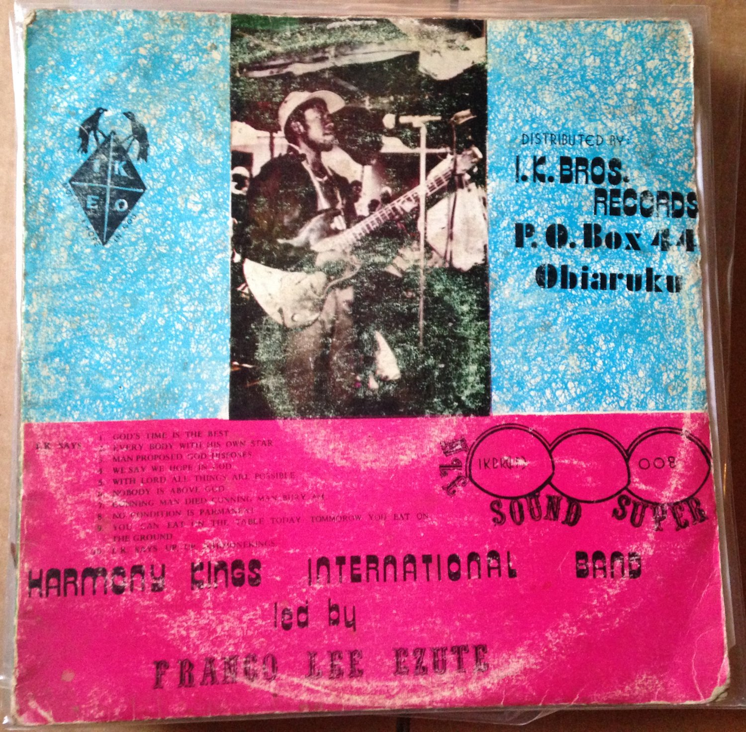 FRANCO LEE EZUTE & HARMONY KINGS LP ethiope social club NIGERIA mp3 LISTEN