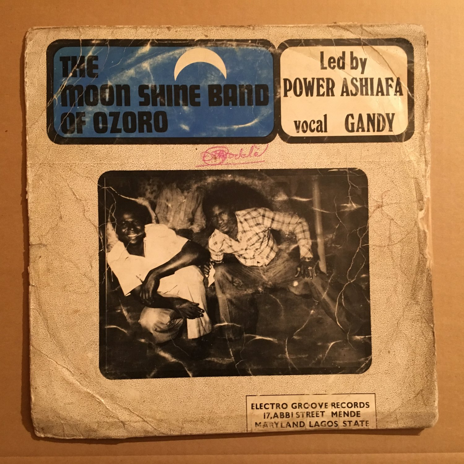 POWER ASHAFIA & HIS MOONSHINE DANCE BAND LP same NIGERIA mp3 LISTEN