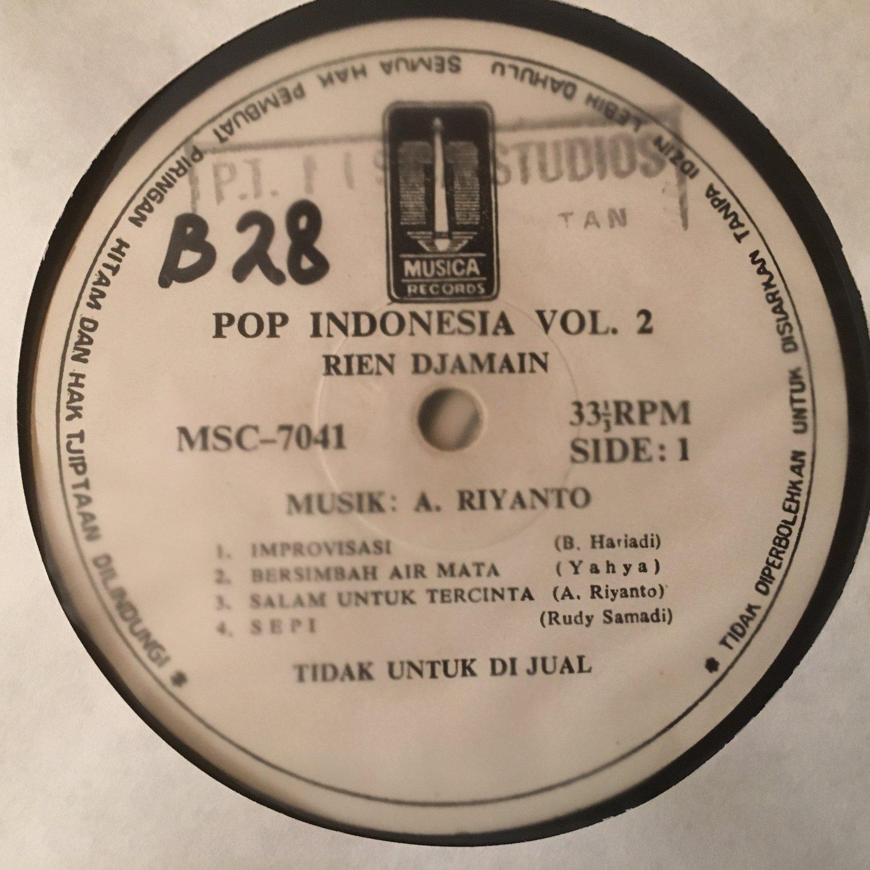 REIN DJAMAIN LP pop indonesia vol. 2 INDONESIA SOUL JAZZ BOSSA mp3 LISTEN