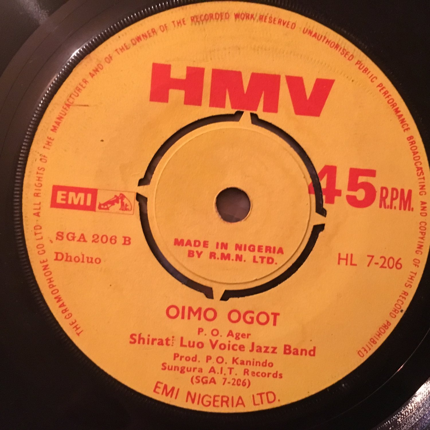 SHIRATI LUO VOICE JAZZ BAND 45 oimo ogot - n'gor KENYA mp3 LISTEN