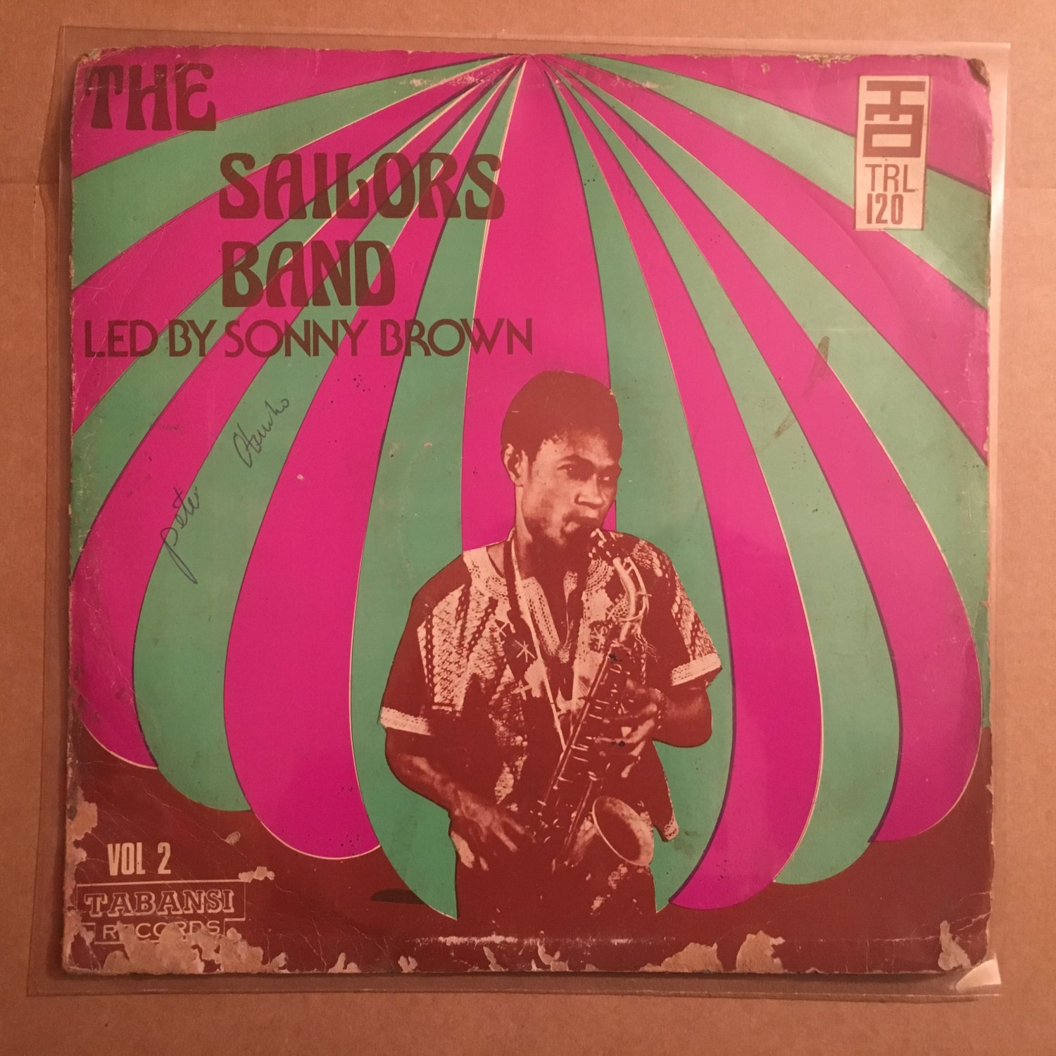 SONNY BROWN & HIS SAILORS BAND LP vol 2 NIGERIA HIGHLIFE mp3 LISTEN