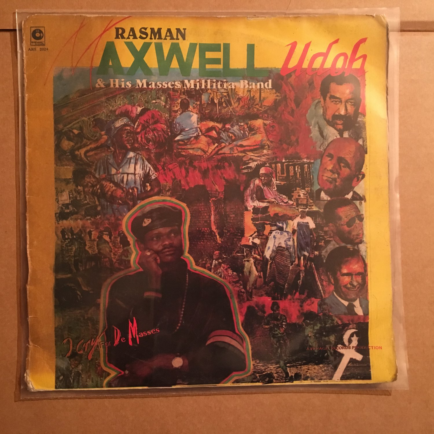 RASSMAN MAXWELL UDOH & HIS MASSES MILITIA BAND LP i cry for the masses NIGERIA REGGAE mp3 LISTEN