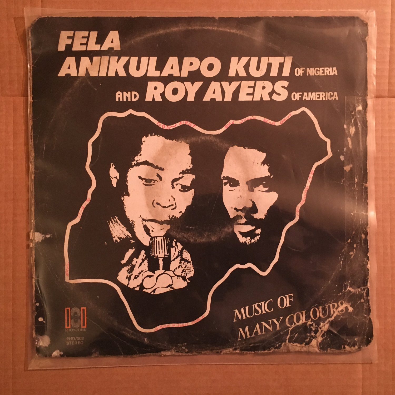 FELA & ROY AYERS LP music of many colors NIGERIA AFRO BEAT AFRO FUNK PHONODISK ORG mp3 LISTEN