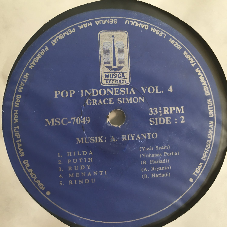 GRACE SIMON LP pop Indonesia volume 4 RARE INDONESIA mp3 LISTEN