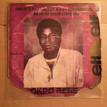 BKO KAIZER & HIS PROFESSIONAL BAND LP okpo bebe NIGERIA HIGHLIFE mp3 LISTEN