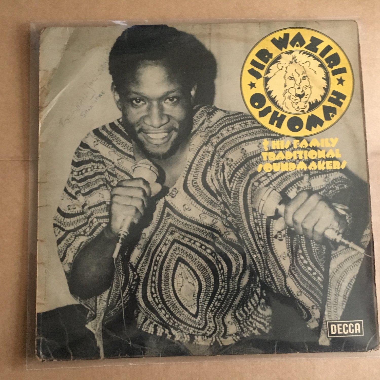 SIR WAZIRI OSHOMAH & HIS TRAD. SOUNDMAKERS LP same HIGHLIFE NIGERIA ETSAKOR mp3 LISTEN