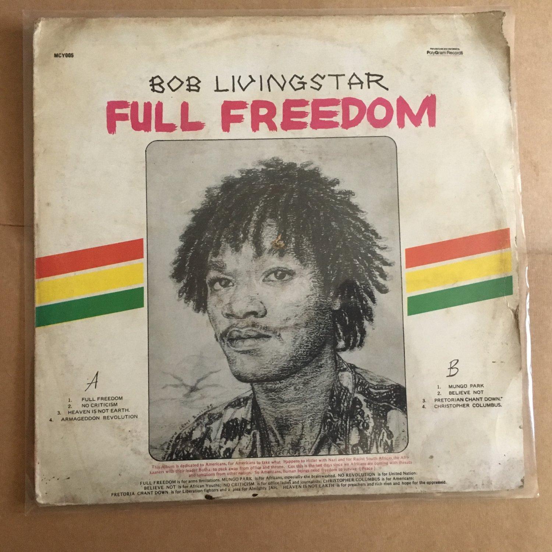 *BOB LIVINGSTAR LP full freedom NIGERIA REGGAE mp3 LISTEN