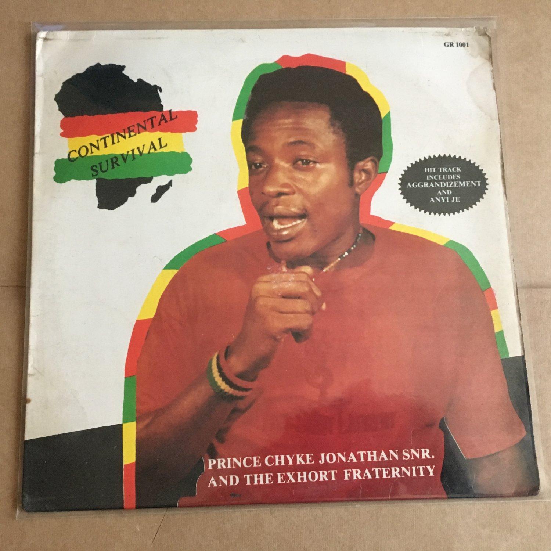 PRINCE CHYKE JONATHAN SNR. LP continental survival NIGERIA REGGAE mp3 LISTEN