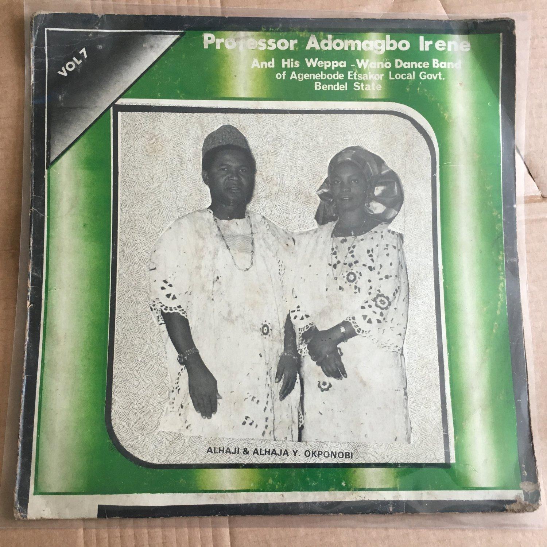 PROF. ADOMAGBO IRENE LP vol. 7 NIGERIA KILLER FUNKY JAZZY ETSAKOR HIGHLIFE mp3 LISTEN
