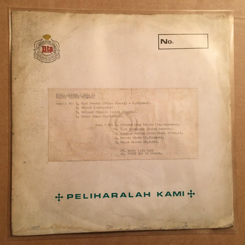 NIDYA SISTERS LP vol. 2 INDONESIA BOSSA JAZZ  DISCO POP mp3 LISTEN