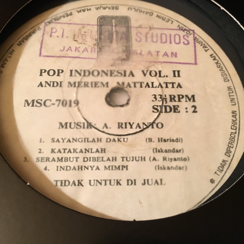 ANDI MERIEM MATTALATTA LP same RARE INDONESIA FUNK BOSSA SOUL JAZZ mp3 LISTEN