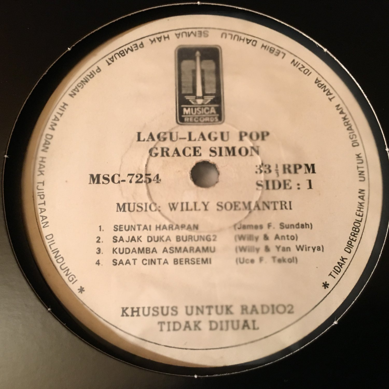 GRACE SIMON LP  lagu lagu pop RARE INDONESIA SOUL FUNK RADIO PROMO mp3 LISTEN