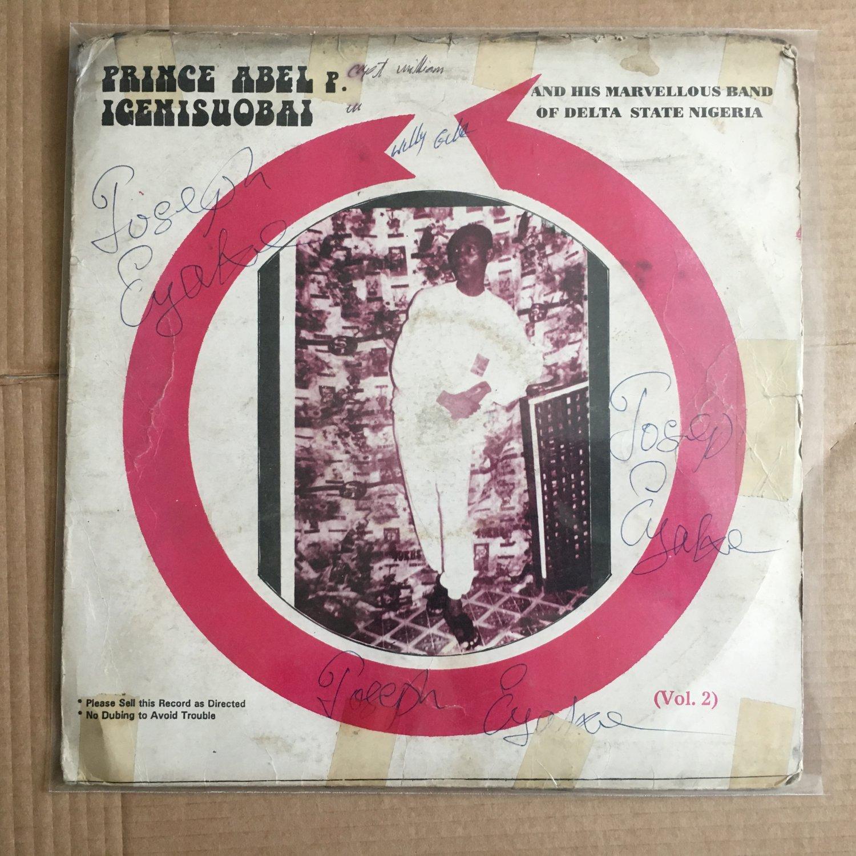 PRINCE ABEL IGENISUOBAI & HIS MARVELLOUS BAND LP vol. 2 NIGERIA HIGHLIFE mp3 LISTEN