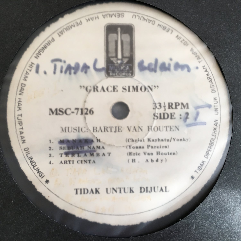 GRACE SIMON LP same INDONESIA SOUL FUNK RADIO PROMO mp3 LISTEN