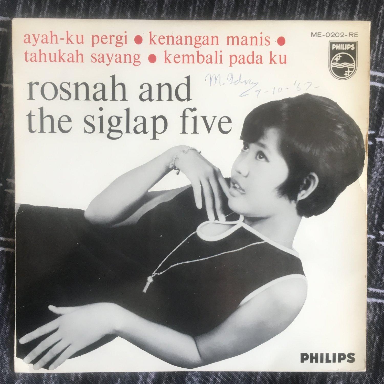 ROSNAH & THE SLIGLAP FIVE 45 EP ayah ku pergi MALAYSIA GARAGE 60s mp3 LISTEN