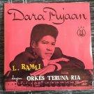 L. RAMLI & ORKES TERUNA RIA 45 EP dara pujaan MALAYSIA GARAGE 60s mp3 LISTEN