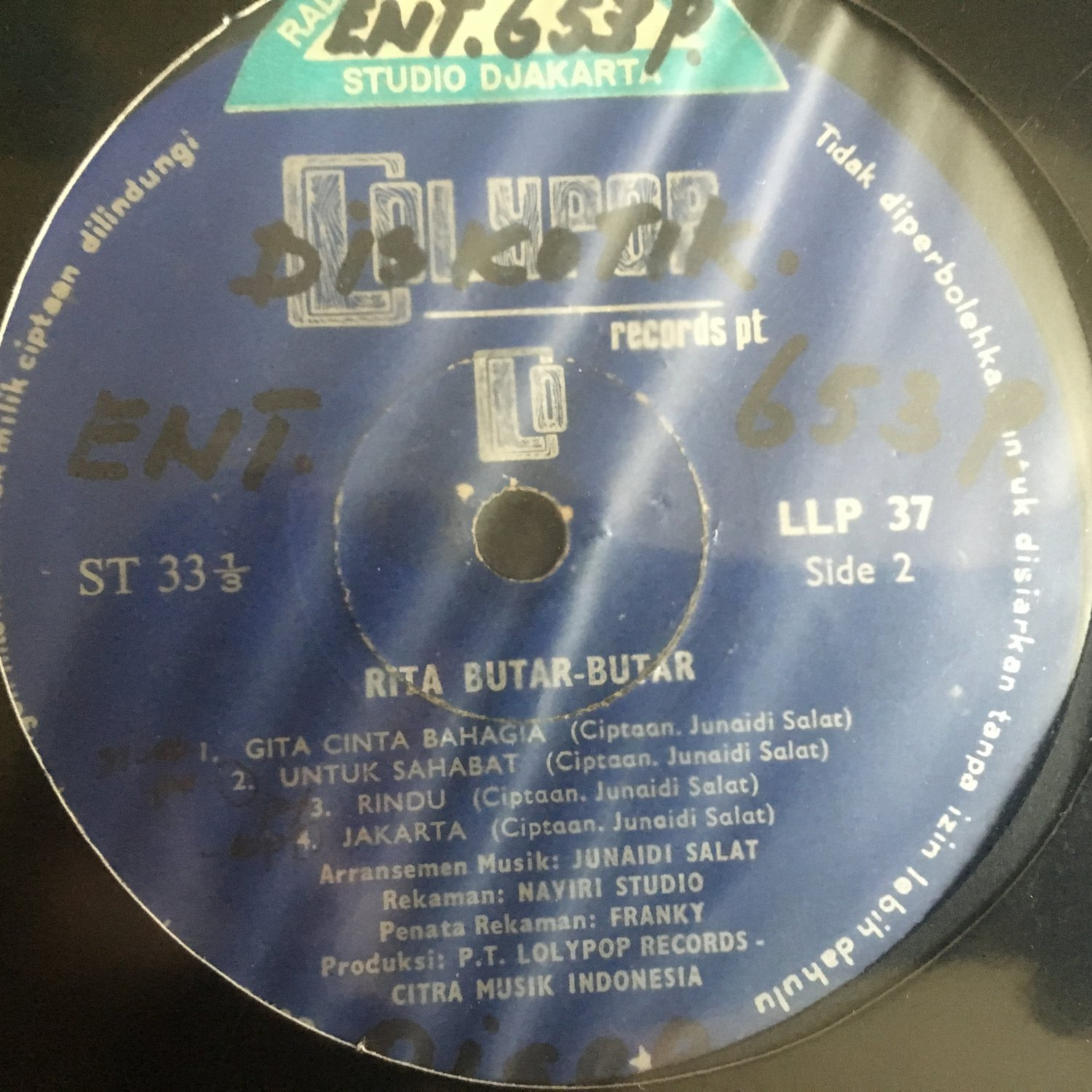 RITA BUTAR BUTAR LP same INDONESIA DISCO FUNK mp3 LISTEN