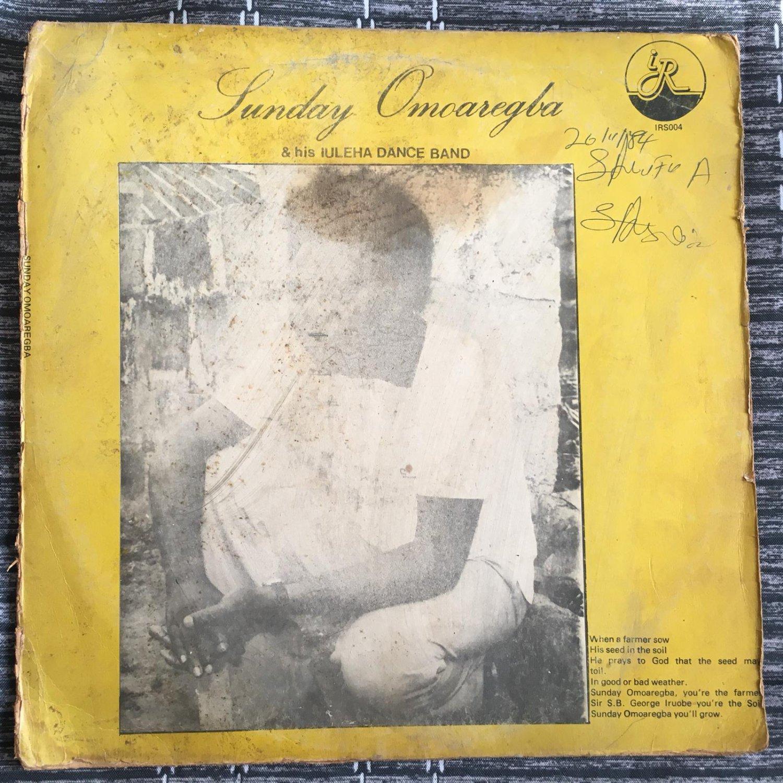 SUNNY OMOAREGBA & HIS IULEHA DANCE BAND LP same NIGERIA mp3 LISTEN