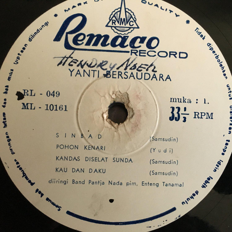 """YANTI BERSAUDARA 10"""" Sinbad INDONESIA SUNDA GARAGE 60's mp3 LISTEN"""
