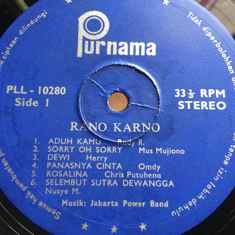 RANO KARNO LP same INDONESIA MODERN SOUL mp3 LISTEN
