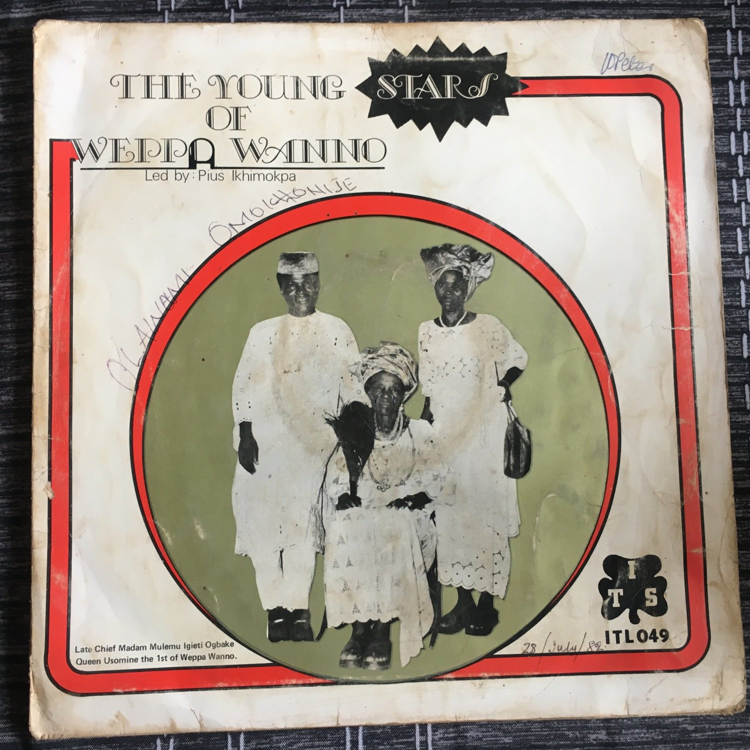 THE YOUNG STARS OF WEPPA WANNO LP same NIGERIA IJEBOR ETSAKOR HIGHLIFE mp3 LISTEN
