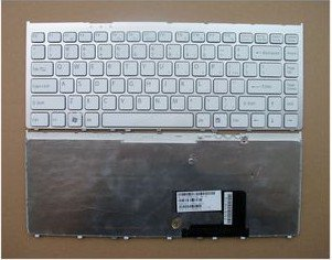 New SONY VGN-FW Keyboard US Silver Frame White 148084521