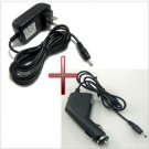 12v 1.5A Power Adapter Wall Charger + DC Car Adapter Charger For ACER ICONIA TAB A100 A200 A500