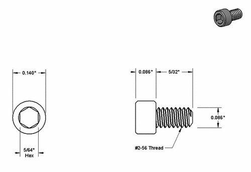 black 2 32 screws for handle standoffs x10