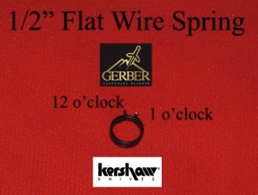1/2 Flat Wire Spring Gerber 06/DMF Kershaw Rouge Protech & SOG