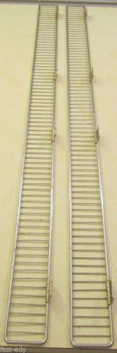 """Lot x2 Gondola Shelf Front Wire Rail Fencing 48""""x3"""" by Handy Store Fixtures 4ft"""