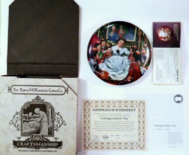 """Knowles China """"Getting to Know You"""" 1985 Complete Mint Docs Certificate Ltd Ed"""