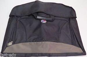 American Tourister Carry-On Gamet Hanging Hanger Bag Black Tan Lightweight