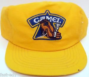 Vintage Smokin' Joe's Racing Camel Snap Back Hat Yellow Concepts Trucker