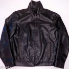 KENNETH COLE Reaction Faux LEATHER JACKET Coat Mens Size M Medium Polyvinyl