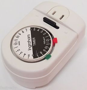 INGRAHAM Electrical Timer Dial White Control Automatic Manual Auto  #12-700