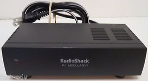 Radio Shack RF Modulator 15-1244 TV Convert A/V Coaxial Cable AC Adapter Include