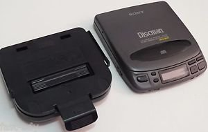 Sony D-202 Discman Portable CD Compact Disc Player Car Mount CPM-M300 AC Adapt