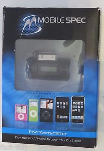 Mobile Spec FM TRANSMITTER for iPhone iPod (Car Auto Sound) MSIF-30