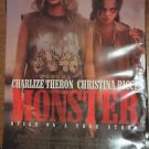 MONSTER Double Sided Movie Poster Charlie Theron Christina Ricci (2003) Original