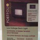 Portfolio Low Voltage Deck Stair Light Bronze Louvered Face Plate Lens 0092894
