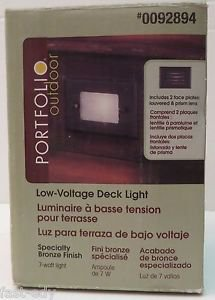 Portfolio Low Voltage Deck Stair Light Bronze Louvered Face Plate Lens 0092894